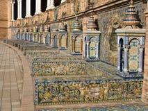 Provinzielle Nischen in der Piazza de España Stockbild