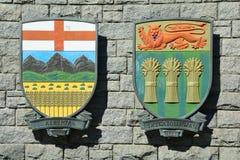 Provinzielles Wappen Stockfoto