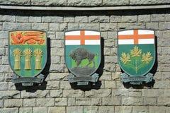 Provinzielles Wappen Stockbild