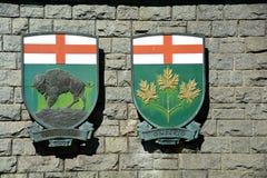 Provinzielles Wappen Stockfotos