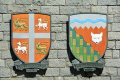 Provinzielles Wappen Stockbilder