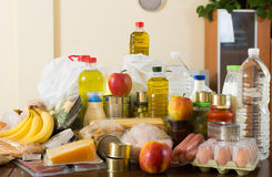 Provision with vegetables and meat Stock Photo