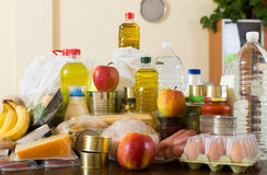 Provision with vegetables and meat Royalty Free Stock Photos
