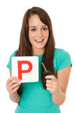 Provisional licence & car key Royalty Free Stock Photography