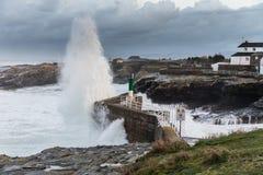 Provisoire en mer des côtes galiciennes photo stock