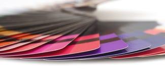 Provkarta för färghandbokspektret tar prov regnbågen Fotografering för Bildbyråer