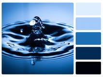 Provkarta för färgpalett. royaltyfri bild