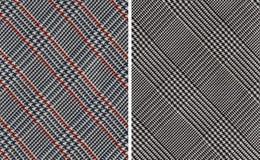 Provkartor för klassikerplädtextil royaltyfri foto