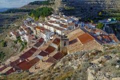 Província de Ares del Maestrazgo de Valência, Espanha Fotografia de Stock