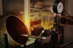 Provning för injektionsystem Royaltyfri Bild