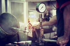 Provning för injektionsystem Royaltyfri Foto