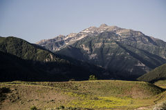 Provo Peak of the Rocky Mountains early summer landscape Royalty Free Stock Photography
