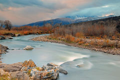 Provo River Dusk landscape Royalty Free Stock Images
