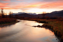 Provo River dusk sky Stock Photography