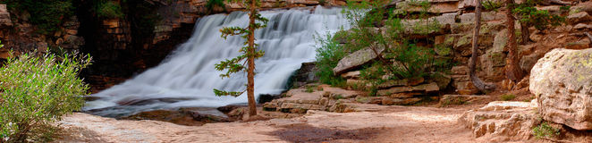 Provo River Falls panorama Stock Photography