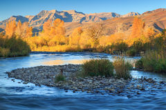 Provo River in Heber Valley, Utah, USA. Royalty Free Stock Images