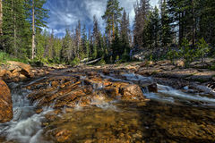 The Provo River off of highway 150 in Utah Stock Image