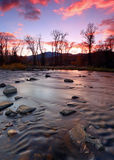 Provo River Sunset Royalty Free Stock Photography