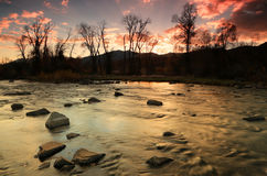 Provo River Sunset Royalty Free Stock Photo