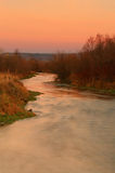 Provo River sunset landscape. Autumn sunset with the provo river in Heber Valley, Utah, USA Royalty Free Stock Photos