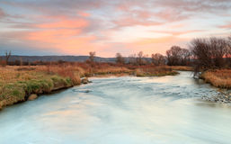 Provo River sunset landscape. Stock Photos
