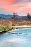 Provo River sunset sky landscape. Autumn sunset with the provo river in Heber Valley, Utah, USA Royalty Free Stock Photography