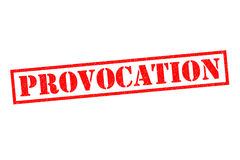PROVOCATION Rubber Stamp. PROVOCATION red Rubber Stamp over a white background Royalty Free Stock Photography