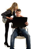 Provocation at work stock photography