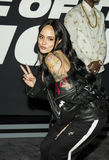 Provocative Kehlani Poses on Red Carpet. Sultry singer, songwriter, and dancer Kehlani Ashley Parrish, known as Kehlani, arrives on the red carpet for the New Stock Photos