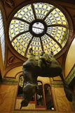 Provocative sculpture of a horse from David Černý. A picture of the provocative sculpture of a horse from David Černý in the arcade of the palace Stock Photos
