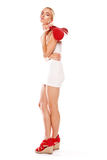 Provocative woman in miniskirt Royalty Free Stock Photos