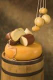 provolone de fromage d'assortiment Photos libres de droits