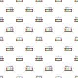 Provrör på sömlös vektor för ställningsmodell stock illustrationer