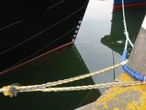 Prow łódź z liczbami Obraz Royalty Free
