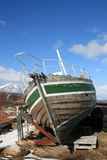 Prow of an abandoned boat Stock Images