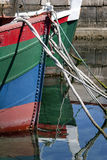 Prow of colored boats Royalty Free Stock Photos
