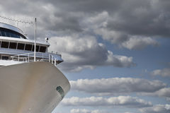 Prow of a cruise ship Stock Images
