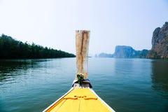 Prow długiego ogonu łódź Zdjęcie Royalty Free
