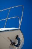 Prow dell'yacht Immagine Stock