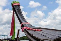 Prow Drewniana łódź Zdjęcie Stock