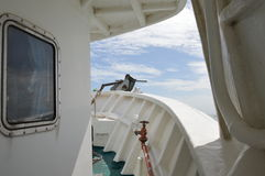 Prow of fishing boat Stock Photos