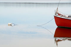 Free Prow Of Red Boat Moored To A Buoy Royalty Free Stock Photography - 90443777
