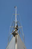 Prow of a sailing boat. In the harbor Stock Photos
