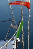 Prow of a sailing boat Royalty Free Stock Images