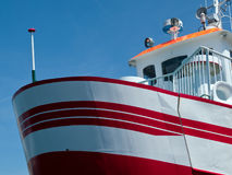 Prow of a small ferry boat Stock Image