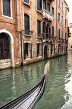 Prow of a Venetian gondola on a rainy day Stock Photography