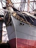 Prow of Vintage Ship. Detail of prow of sailing ship with carved figure of woman Royalty Free Stock Image