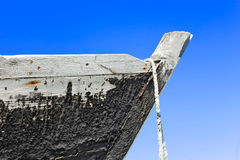Prow of the wooden boat Stock Images
