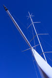 Prow of an yacht from below Stock Image