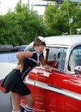 prowadnikowa restauracyjna kelnerka Zdjęcie Stock